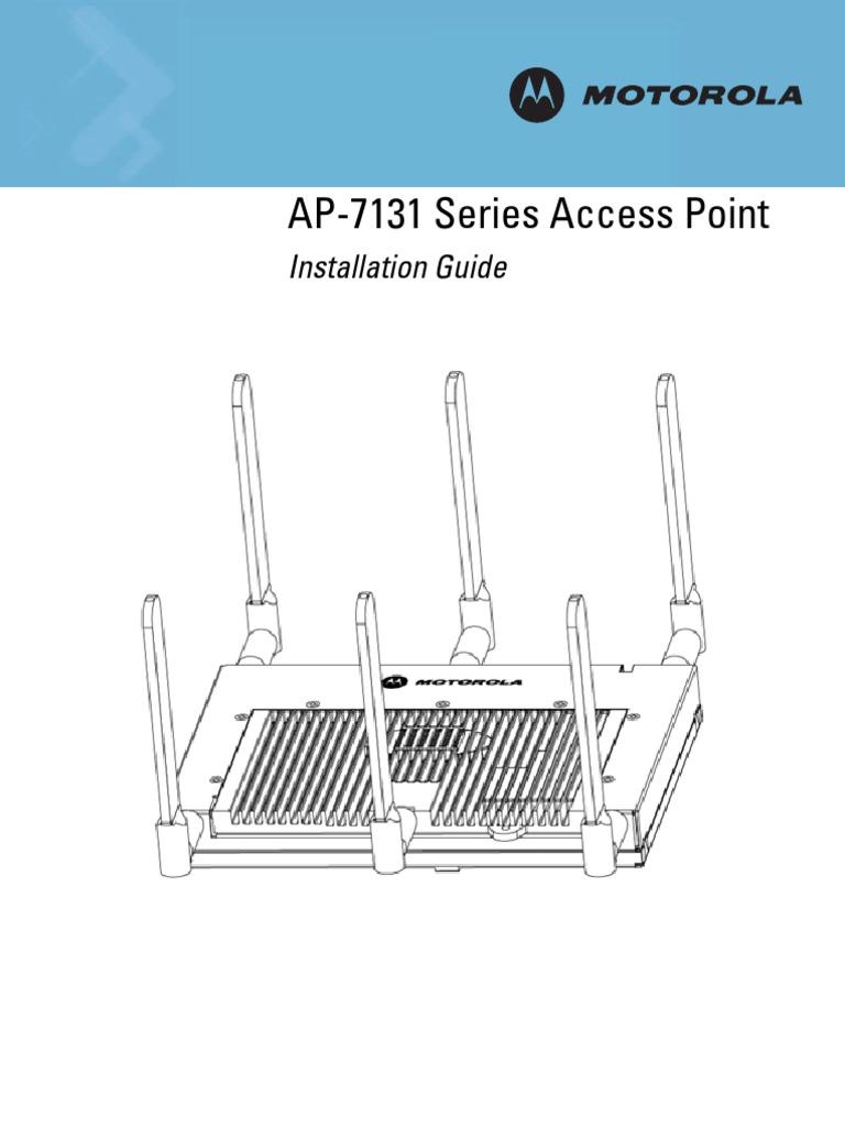 Motorola AP-7131-66000-D-WR 802.11N Wireless Access Point w// 6 Antennas POE Port