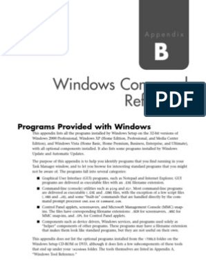 Windows Command Reference | Command Line Interface | Windows