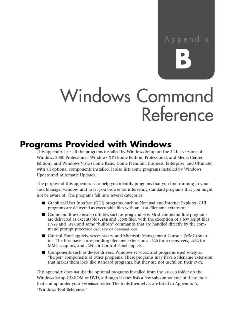 windows command reference command line interface windows 2000Sbeserver.exe #20