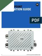 Motorola Solutions AP7161 Access Point Installation Guide (Part No. 72E-151062-01 Rev. a) 15106201a