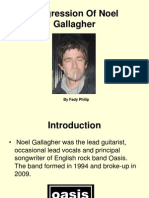Progression of Noel Gallagher