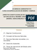 Aspecto constitucionales de los recursos naturales