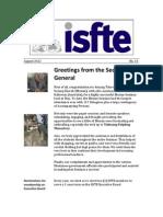 ISfTE Newsletter 33 Aug 2012