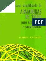 DISEÑO SIMPLIFICADO DE ARMADURAS DE TECHO - HARRY PARKER