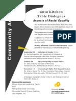 2012 Kitchen Table Conversations Flyer