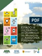 Los Objetivos de Desarrollo Del Milenio en La Amazonia Peruana