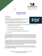 The Monarch Report 9/4/2012