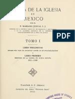 Cuevas, Mariano - Historia de La Iglesia en Mexico 01