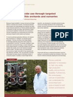 Reducing pesticide use through targeted application in Ohio orchards and nurseries