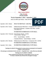 Meetings This Week 090312