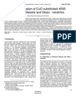 Characterization of CuO Substituted 45S5 Bioactive Glasses and Glass Ceramics