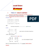 Sisteme de Ecuatii Liniare