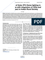 Optimization of Solar PV Home Lighting in Literacy House With Integration of LEDs and Social Impact in Indian Rural Society