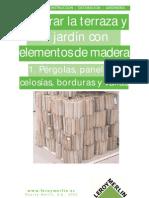Decorar El Jardin Con Pergolas, Paneles, Celosias, Borduras
