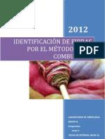 Laboratorio 2 de Fibrologia-Identificacion de fibras por combustion