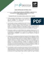 Documento Del Encuentro de Buenos Aires FIN
