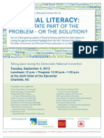 Financial Literacy -- Democratic Convention