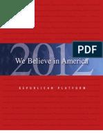 2012 Republican Platform