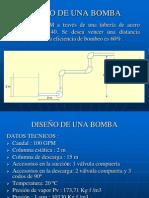 DISEÑO DE UNA BOMBA