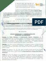 CONVOCATORIA PARA ESTIMULOS POR ANTIGÜEDAD 2013