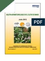 Boletín agrometeorológico mango_julio 2012