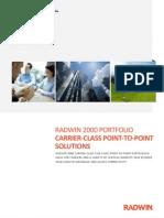 RADWIN 2000 Portfolio Brochure 2.7 - English