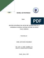 Tesis  Gestión Estratégica del Centro pre Universitario de la Universidad Nacional Santiago Antunez de Mayolo Filial Barranca