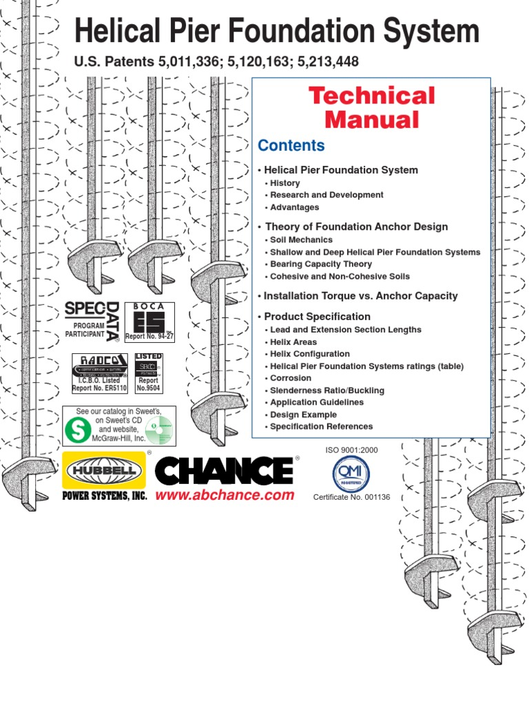 01-9601 Technical Manual Chance Helical Anchor p12 | Deep