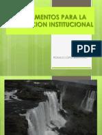 Fundamentos Para La Evaluacion Institucional