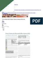 Prova Teórica de Microsoft Office Access 2010
