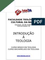 BEL001_Introdução à Teologia