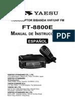 FT 8800E Spanish