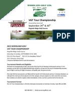 2012 Woodland Golf VGT Tour Champ Details