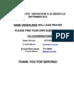 Eucharistic Ministers Schedule
