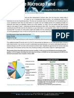 Microequities Deep Value Microcap Fund August 2012 update