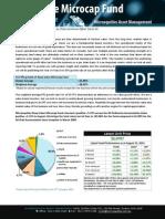 Microequities Deep Value Microcap Fund August 2012 update