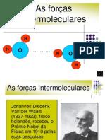 forças inter moleculares
