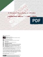 Movimiento Obrero Catalan en el periodico  Solidaridad Obrera 1907 1919