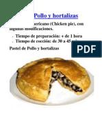 Recetas - Pastel de Pollo y Hortalizas