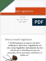 Health Legislations