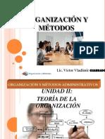 UNIDAD II TEORÍA DE LA ORGANIZACIÓN