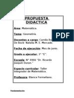 Propuesta Didáctica de Matemática.