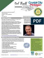 September 5, 2012 Weekly Bulletin - Crystal City-Pentagon Rotary Club