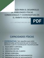 METODOLOGÍA PARA EL DESARROLLO DE HABILIDADES FÍSICAS CONDICIONALES Y COORDINATIVAS