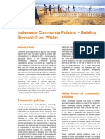 2007 02 Indigenous Community Policing - Synexe Knowledge Note