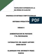 Segunda Unidad de Sistema Operativo