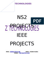 Ns2 Projects in Chennai -z Technologies - Final Year Ieee Projects - Chennai - Adyar - Ieee 2012-13-Matlab Projects in Chennai