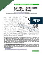 Entri, Edit, Delete, Tampil Dengan PHP Dan Ajax JQuery