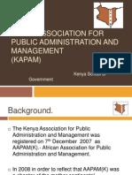 Kenya Association for Public Administration and Management