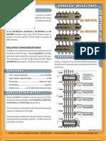 Sonora Sd Mst 6 Input Directv Vertical Tap Spec Sheet